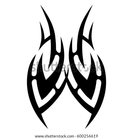 TATTOO TRIBAL VECTOR DESIGNS. Tattoo tribal design for girl, woman and man. Can be used as a template for the design of machine embroidery. Idea for design. Creative ornament vector.