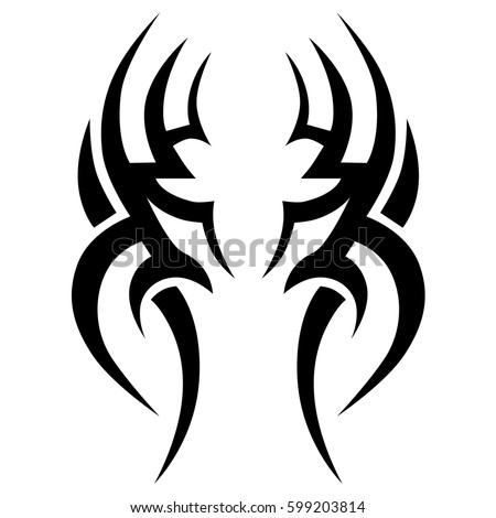 Tattoo tribal vector designs. Tribal tattoos. Art tribal tattoo. Isolated vector sketch of a tattoo. Idea for design. Creative tattoo ornament vector.