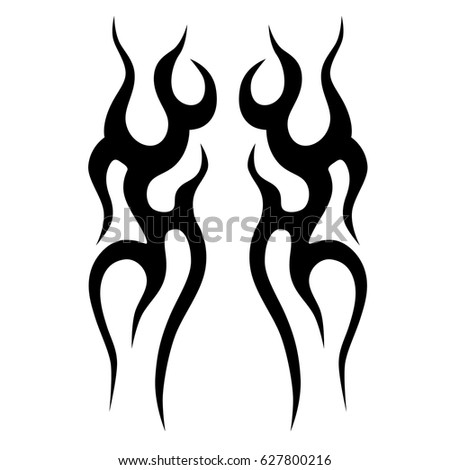 Tattoo tribal vector designs.Tribal tattoos.Art tribal tattoo. Isolated vector sketch of a tattoo.Idea for design.Creative tattoo ornament vector.