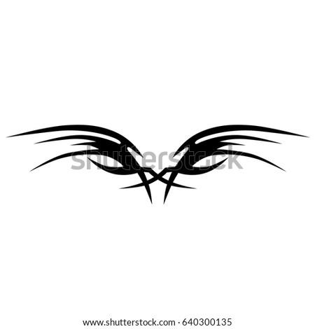 Tattoo tribal vector designs.Tribal tattoos.Art tribal tattoo. Isolated vector sketch of a tattoo.Idea for design.Creative tattoo ornament vector.