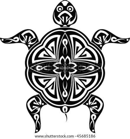 stock vector : Tattoo Turtle