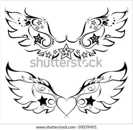 tattoo wing. stock vector : Tattoo - wings