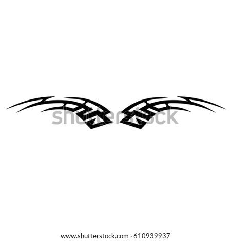 Tattoos vector. Tattoo tribal designs. Art tribal tattoo. Isolated vector sketch of a tattoo. Idea for design. Creative tattoo ornament vector.