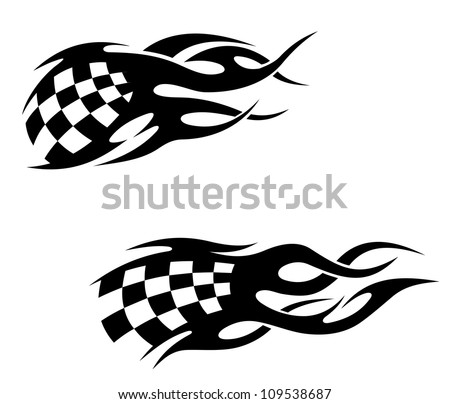 tattoos with checkered flag in