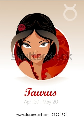 taurus astrological sign vector