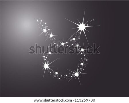 taurus zodiac sign on the dark