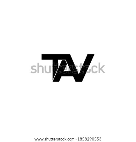 tav letter original monogram logo design Stok fotoğraf ©