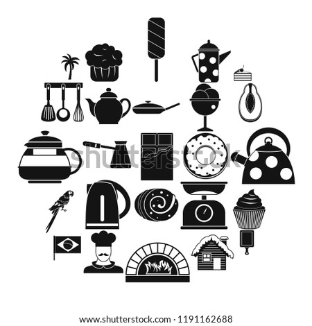 Tavern icons set. Simple set of 25 tavern vector icons for web isolated on white background