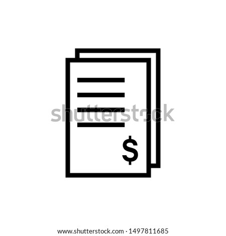 Tax bill icon vector design template
