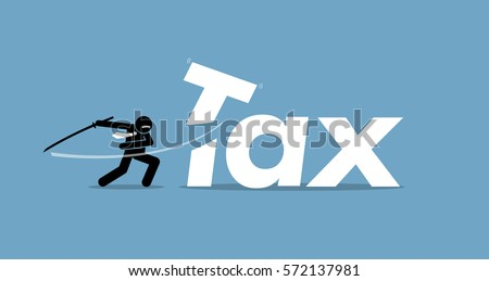 tax cut vector artwork depicts