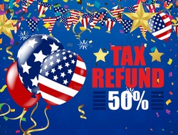 Tax Day 2015 Poster Or Banner Background.