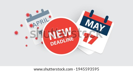 Tax Day Reminder Concept - Calendar Design Template - USA Tax Deadline, New Extended Date for IRS Federal Income Tax Returns: 17 May 2021 Stock fotó ©