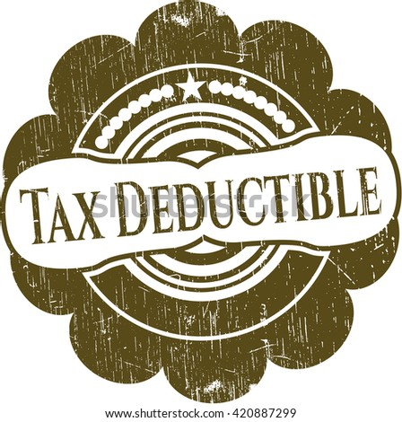 Tax Deductible rubber grunge texture stamp
