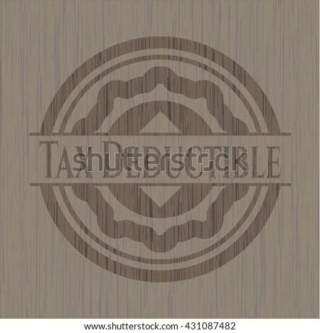 Tax Deductible vintage wood emblem