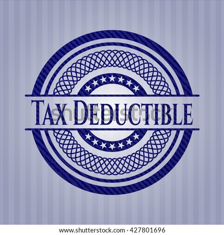 Tax Deductible with jean texture