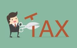 Tax Deduction. Business Concept Cartoon Illustration.