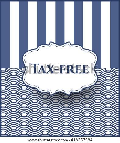 Tax-free card, colorful, nice design