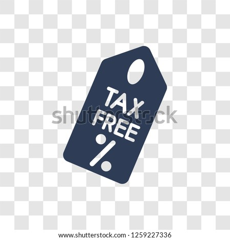 Tax free icon. Trendy Tax free logo concept on transparent background from Delivery and logistics collection