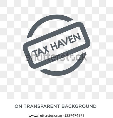 tax haven icon trendy flat
