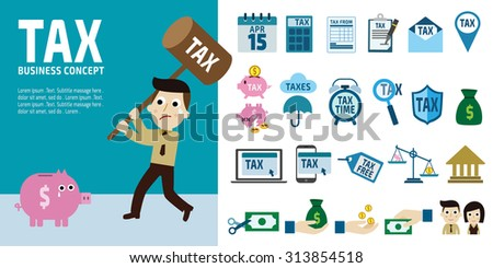 tax infographic elements