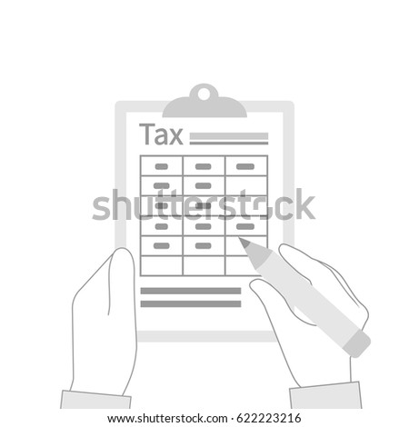 tax payment icon data analysis