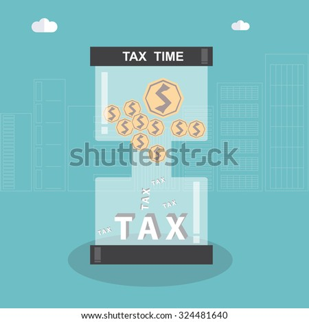 Tax time. Business Concept Design.