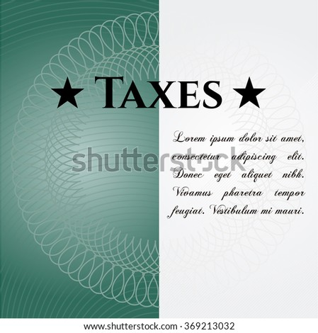Taxes colorful card