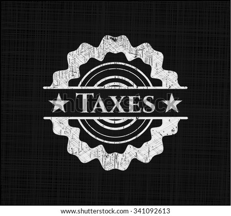 Taxes on blackboard