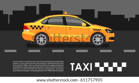 taxi cab car in the night