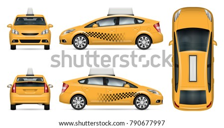 taxi cab vector mock up for