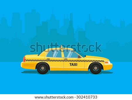 taxi car flat styled