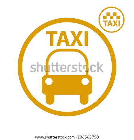 Taxi car icon, vector.