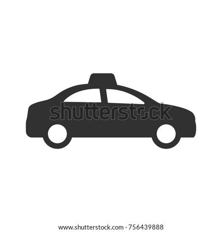 Taxi car. monochrome icon