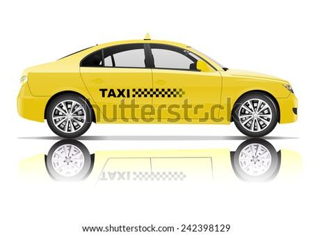 Taxi 3D Vector