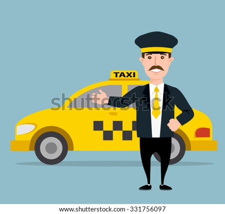 taxi driver yellow taxi