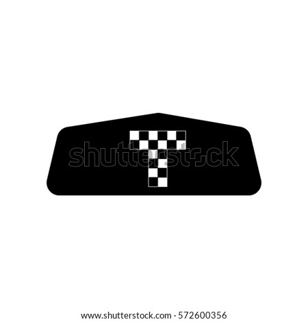 taxi icon illustration isolated vector sign symbol