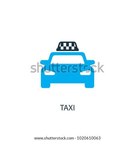 taxi icon logo element