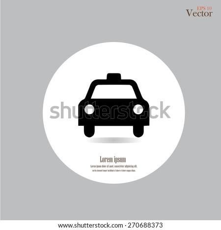 Taxi Icon.taxi icon vector.taxi.vector illustration.