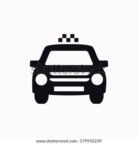 Taxi  icon. Vector design.