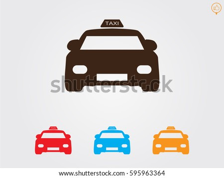 taxi, icon, vector illustration eps10