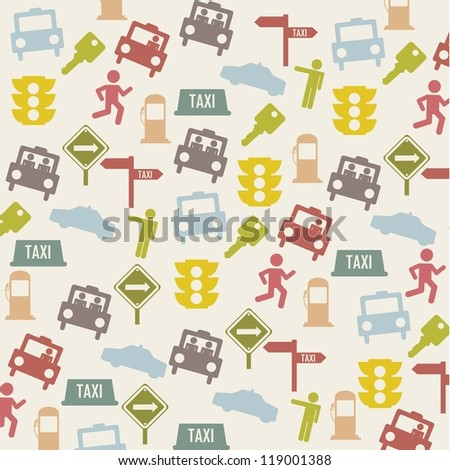 taxi icons over beige background. vector illustration