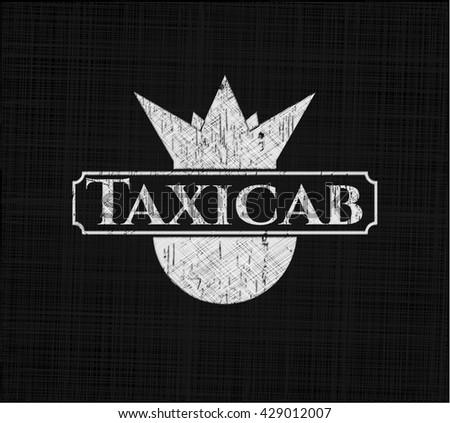 Taxicab chalkboard emblem