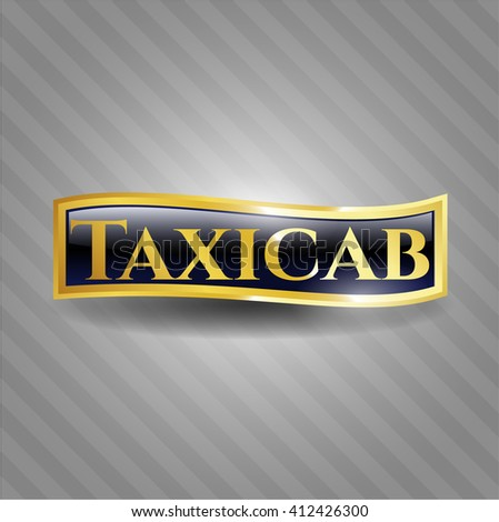 Taxicab gold emblem or badge
