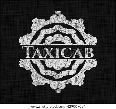 Taxicab written on a chalkboard