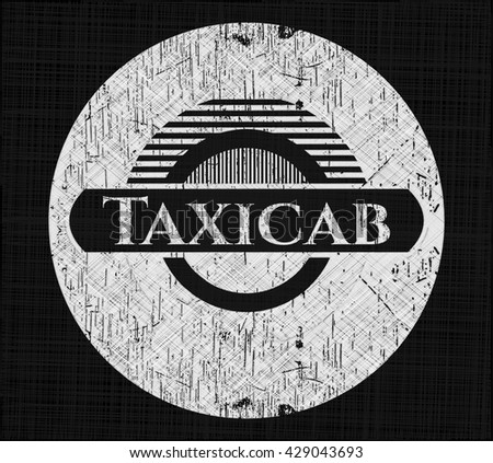 Taxicab written with chalkboard texture