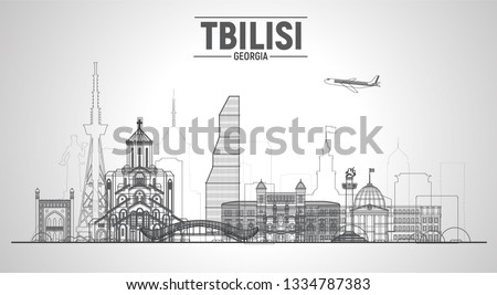 tbilisi  georgia  line skyline