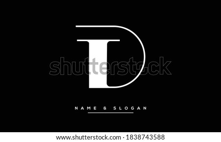TD ,DT ,T ,D  Abstract Letters Logo Monogram Photo stock ©