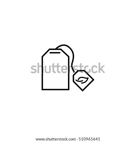tea bag icon -  vector