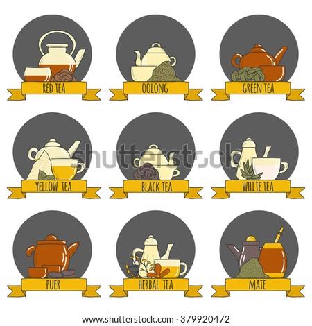 tea ceremony set with teapots