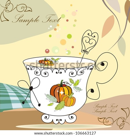 Tea cup (good for thanksgiving or autumn theme)